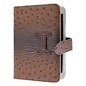 Fake Ostrich Pattern PU Full Body Case with Card Slot and Card Slot for iPad mini (Optional Colors) , Brown