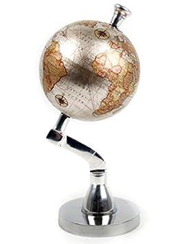 brand new small 4 decorative silver globe vintage retro ornament - Decorative Globe