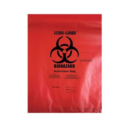Autoclave Bag, Red, Polypropylene, 2 mil, 8x12''