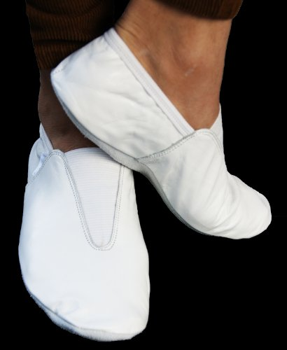 black training White all dance sizes Gymnastic wear or indoor shoes Leather white xSZYP5wAq