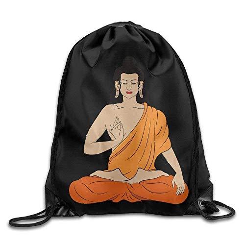 - Asian Buddhist Print Drawstring Backpack Rucksack Shoulder Bags Gym Bag Sport Bag
