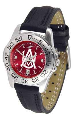 (SunTime Alabama A & M Bulldogs Sport AnoChrome Ladies Watch with Leather Band)
