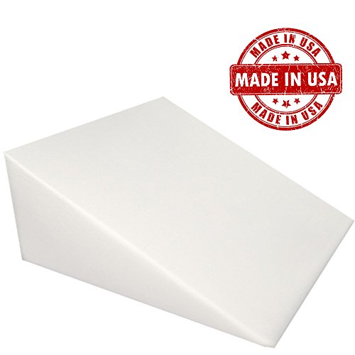 "Extra Firm Density Acid Reflux Foam Bed Wedge Pillow Support Comfort (24"" x 25"" x 14"")"