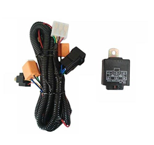bosch car h4 headlight wiring harness with fuse kit 276-honda brio:  amazon in: car & motorbike
