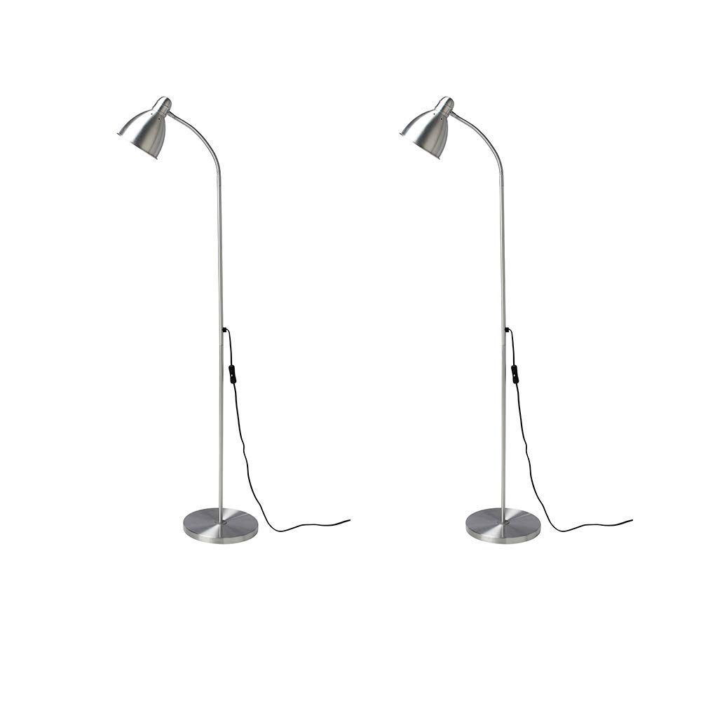 Ikea 201.109.03 Lersta Floor//Reading Lamp Aluminum