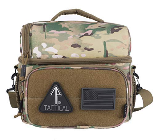 bd3d87a40e54 Galleon - 14er Tactical Lunch Bag | Dual Compartment Cooler, Lunch ...