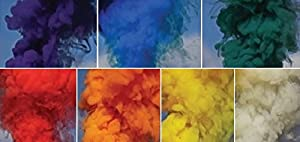 Color Smoke Effect for Photography, Parties, Gender Reveal, Sports - RAINBOW Set of 7 Colors
