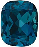 Antique Cushion Shape London Blue Topaz Gem Grade AAA, 12.00 x 10.00 mm in Size, 6.6 Carats