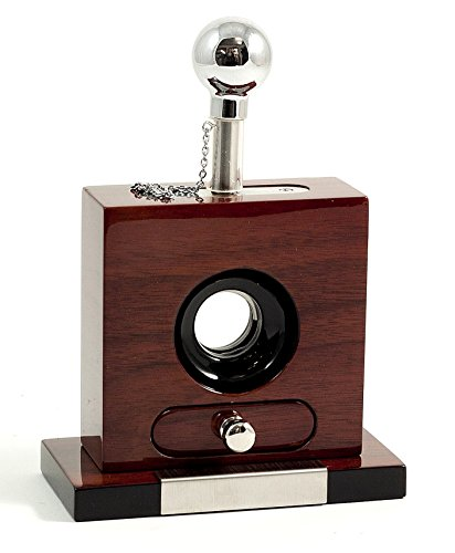 Cigar Cutters - Table Top Walnut Cigar Cutter with Cuttings Drawer - Mens Gifts by KensingtonRow Home Collection