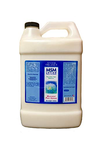 Mineral Rich, Unscented, MSM Pure & Natural Lotion - BULK - 1 GALLON