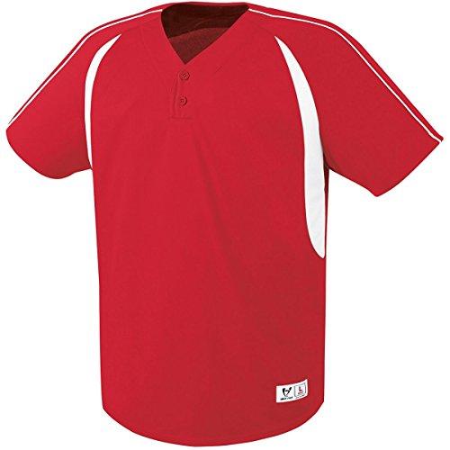 - High Five Impact Two-Button Jersey 3XL Scarlet/White