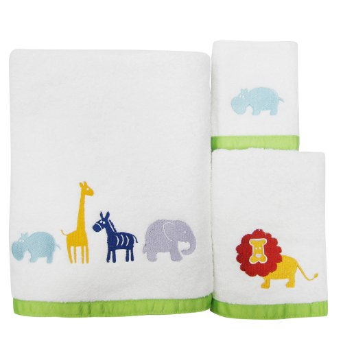 Allure Home Creations Hippo 100% Cotton 3-Piece Towel Set by Allure Home Creatiojns