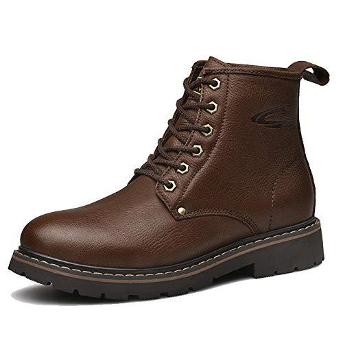 Stivali da Uomo Martin Stivali di Sicurezza per Commercianti d'Epoca Stivali Chelsea Stivali da Sci Antiscivolo Casual Smart Brown