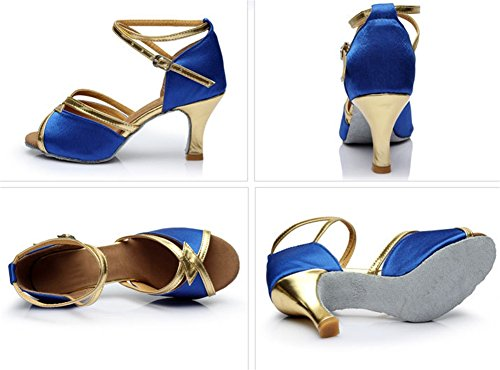 Alto Para Blue Latino 40 Baile Moderna De Zapatillas Mujer Wx Zapatos Verano Tacón Xw 34 wSaPHq