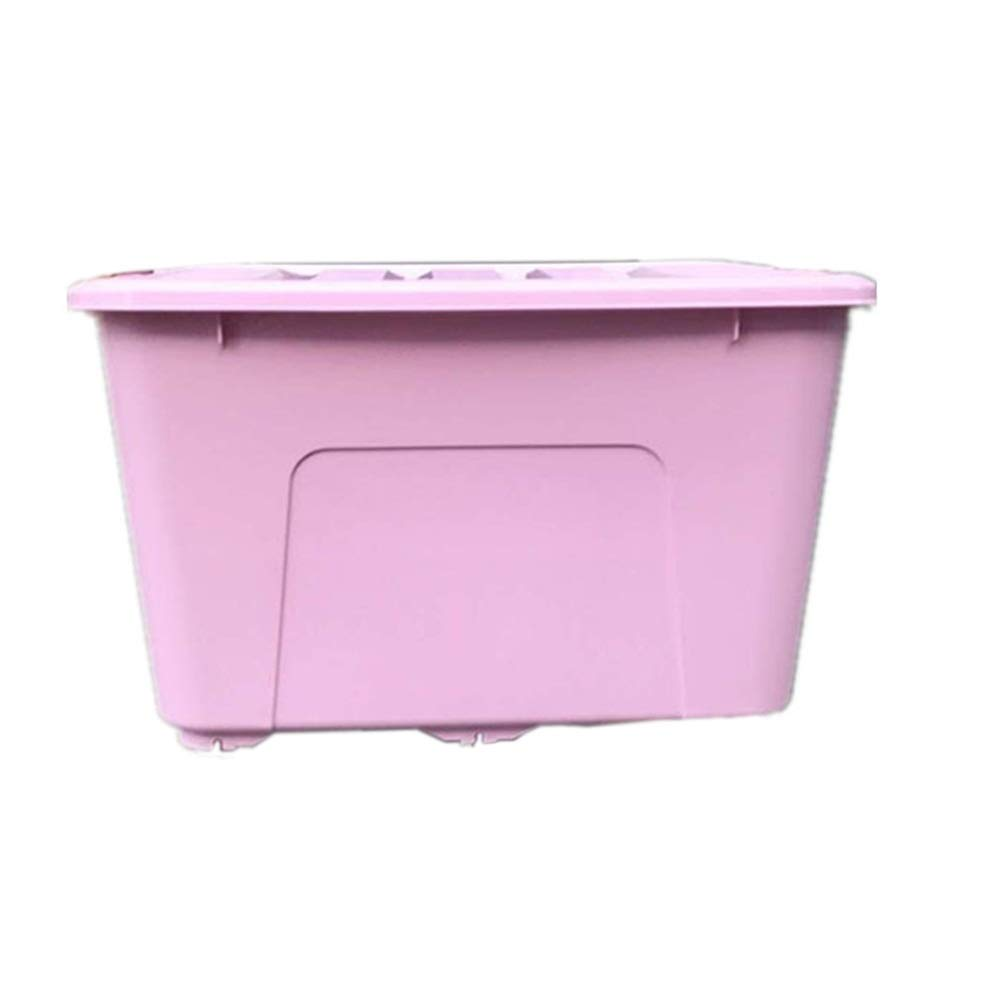 Pink 250L ZHANGQIANG Storage Basket Laundry Basket Large Big Plastic Storage Clear Box Strong Stackable Container (color   Pink, Size   250L)