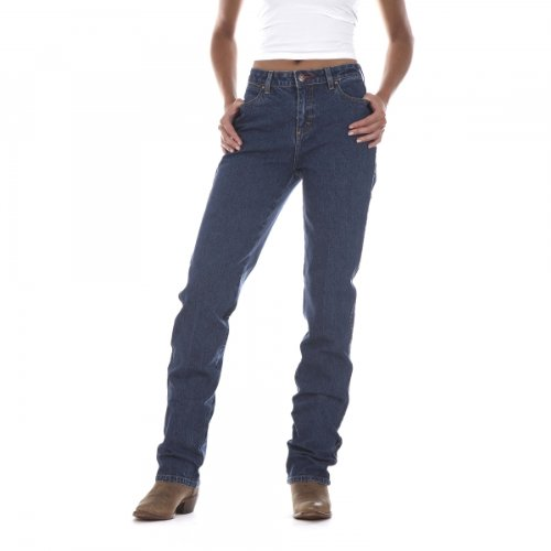 Wrangler Women's Cowgirl Cut Slim Fit High Rise Stretch Jean, Stonewash, ()