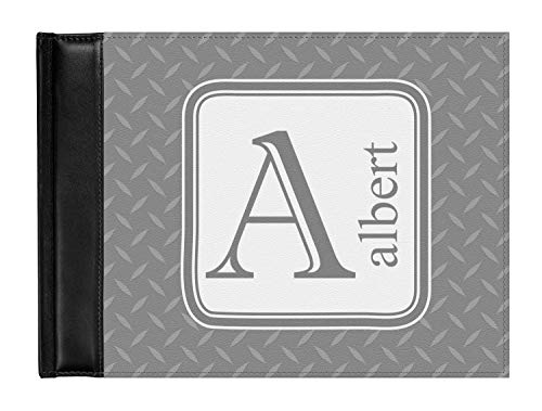 Diamond Plate Genuine Leather Guest Book (Personalized)