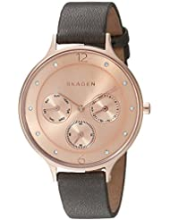 Skagen Women's Anita SKW2392 Grey Leather Quartz Watch