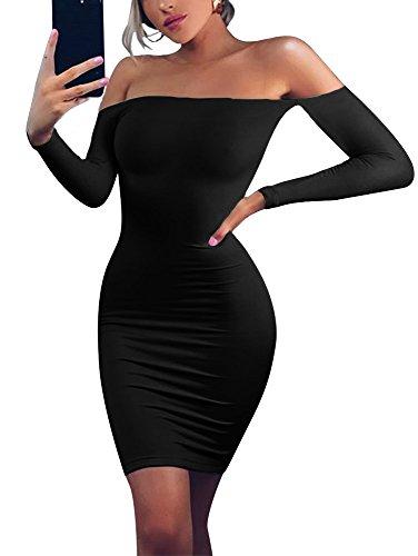 off shoulder mini bodycon dress - 7