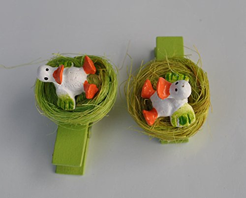 Cute Handmade Baby Duck in the Nest Wood Cloth Clip Pin M...