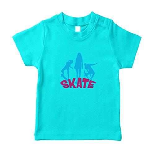 Skate Splash Sport Toddler/Baby 100% Cotton T-Shirt Tee - Aqua Blue, - Splash Baby Aqua