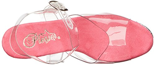 Women's Pleaser Clr Stardust Pink Heels 808t Clr Transparent Sandals OqAqa