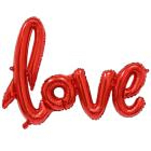 Ikevan New Love Letters Foil Balloon Birthday Wedding Party Anniversary Decor  Red
