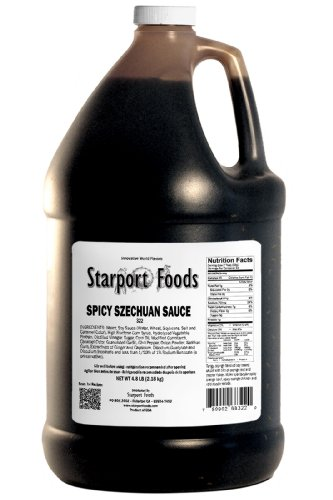 - Starport Foods Spicy Szechuan Sauce, 1/2 gallon, (NET WT 4.8 lb, 76 oz)