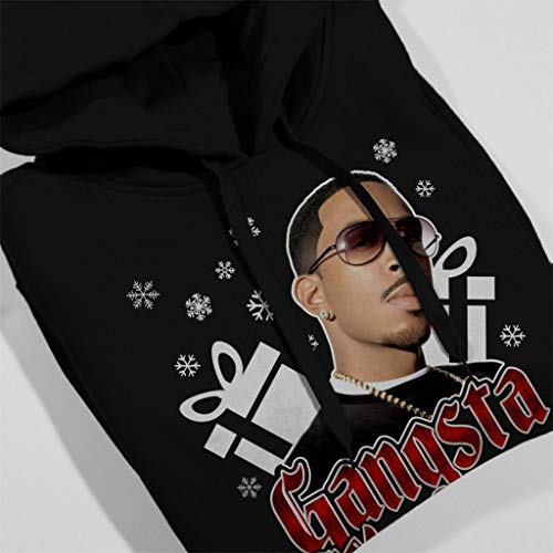 Christmas Hooded Sweatshirt Ludacris Wrapper Women's Black Coto7 Gangsta 46wP11