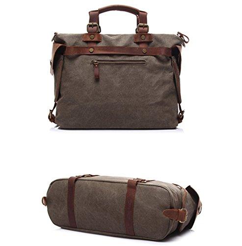 Hombres Concisos Fresca Exquisita Textura Bolsa De Hombro Bolso De Hombro De Color Caqui Brown
