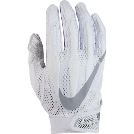 Nike Men's Superbad 4 Football Receiver Gloves, White/White/Wolf Grey, Small