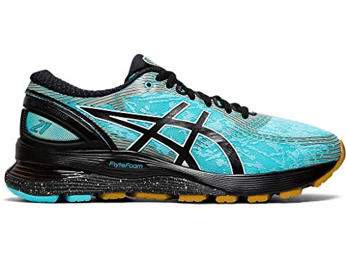 ASICS Women's Gel-Nimbus 21 Winterized Running Shoes, 7.5M, ICE Mint/Black
