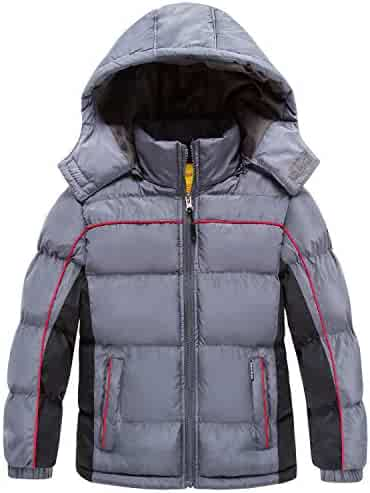b6003952e5126 Wantdo Boy's Padded Winter Coat Thicken Warm Windproof Puffer Jacket with  Hood