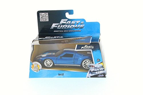 Galleon  Ford Gt Blue With White Stripes Jada Toys  Scalecast Model Toy Car