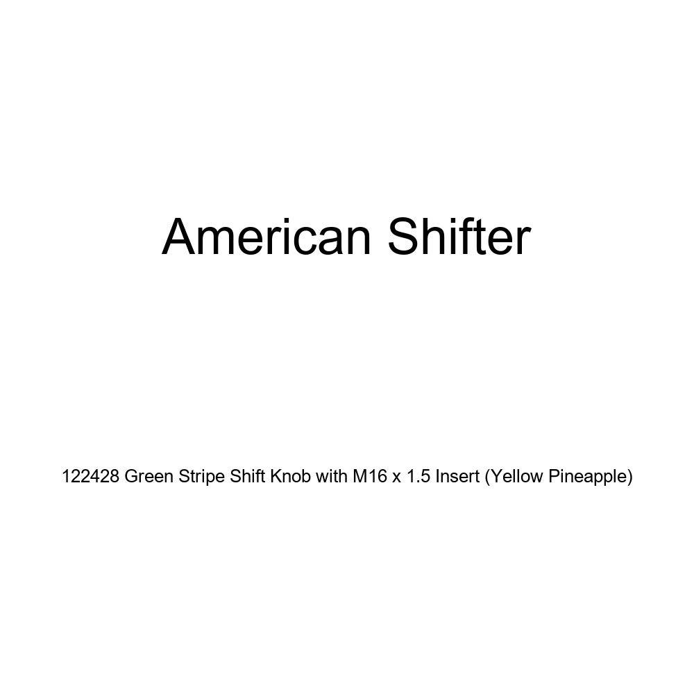 Yellow Pineapple American Shifter 122428 Green Stripe Shift Knob with M16 x 1.5 Insert