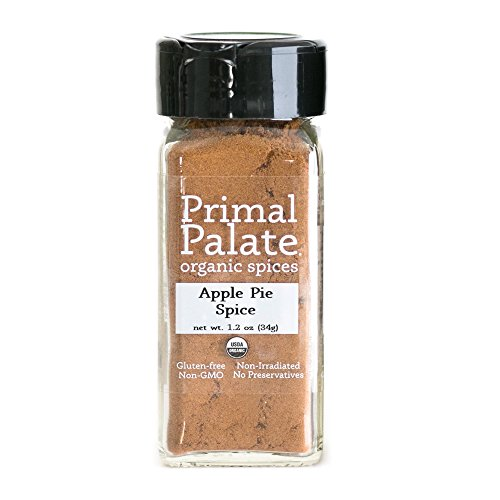 Primal Palate Organic Spices Apple Pie Spice, Certified Organic, 1.2 oz Bottle ()