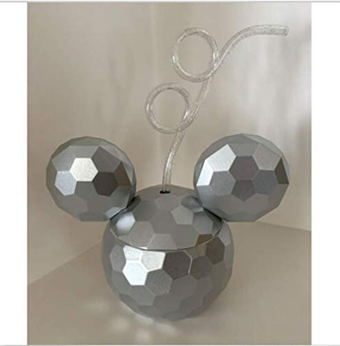 Disney Parks Mickey Mouse Epcot Spaceship Earth Sipper Cup Bottle with Straw