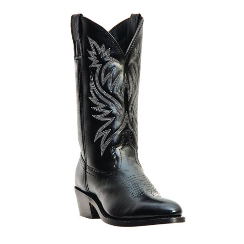 Laredo Western Boots Mens London Stitched Round Toe 7 D Black 4210