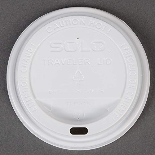 Dart Solo TLP316-0007 Traveler White Dome Hot Cup Lid with Sip Hole 100/Pack -
