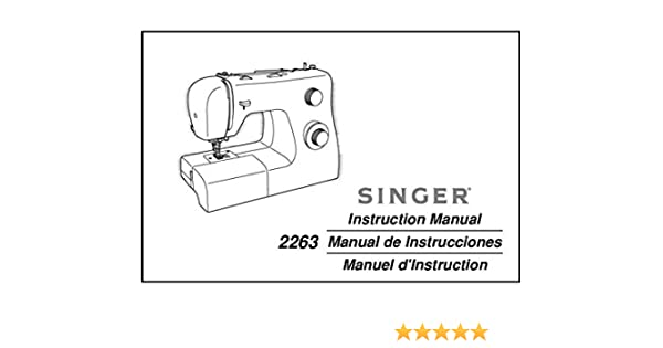 Singer 40SIMPLE Sewing MachineEmbroiderySerger Owners Manual Mesmerizing Singer Simple Sewing Machine Manual 2263