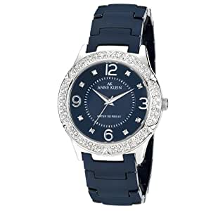 Anne Klein Ladies Crystal Bezel Ceramic  Watch Blue 10/9929BLBL