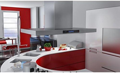 Furnituredeals campanas extractoras cocina Campana extractora para isla con pantalla LCD campana extractora inoxidable: Amazon.es: Hogar