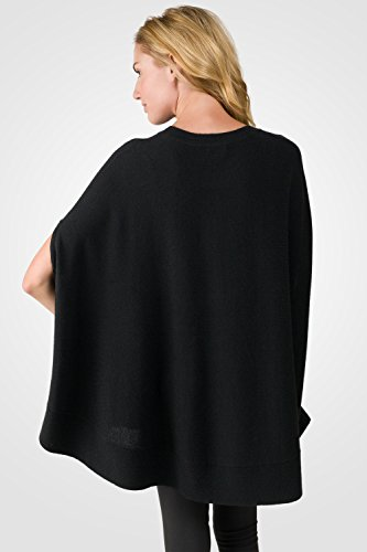 Cashmere Para Mangas Mujer Negro Poncho J Sin pIadpx