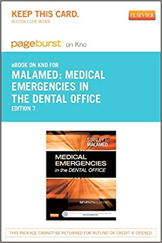 Medical Emergencies In The Dental Office Malamed Pdf