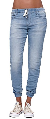 Women's Juniors Casual Soft Sweatpants Distressed Twill Jeans Jogger Pants sky Blue,US 0 ()