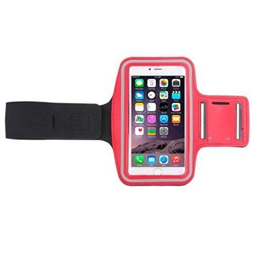 König-Shop Tasche Armband Sportarmband mit Kopfhörerloch und Schlüsselfach verschiedene Modelle / verschiedene Farben, Farbe:Rot, Hersteller wählen:Alcatel onetouch, Modell wählen:Idol 2 S