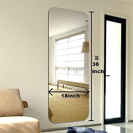 SEVEN HORSES Large Full Length Frameless Bevelled Dressing Mirror (Size:18 X 36 Inch)