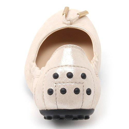 Dee Glitter Donna B4588 Scarpa Woman Tod's Effetto Shoe Ballerina Panna 7wYqR