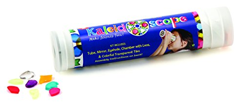 Hygloss Products Kaleidoscope Kit For Kids - Make Your Own Kaleidoscopes - 6-3/4 x 1-3/8 Inches, 12 Pack