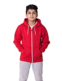 Noroze Boys Girls Plain Fleece Hoodie Full Length Sleeve Sweatshirt Top Age 5-13